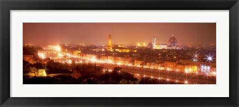 Framed Arno River, Florence, Italy Print