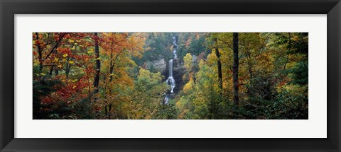 Framed Raven Cliff Falls, Sumter National Forest, Greenville County, South Carolina Print