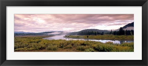 Framed Yellowstone Park, Snake River, Wyoming Print