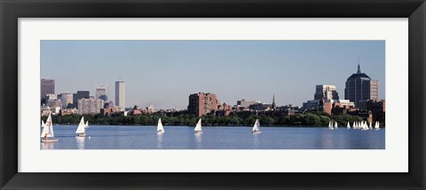 Framed Charles River Skyline, Boston, MA Print