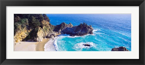 Framed McWay Falls, Julia Pfeiffer Burns State Park, California Print