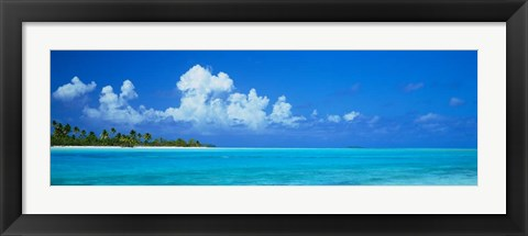 Framed Island in the Ocean, Polynesia Print