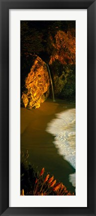 Framed McWay Falls, Julia Pfeiffer Burns State Park, Monterey County, California Print