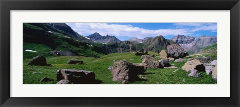Framed Governor's Basin, Rocky Mountains, CO Print