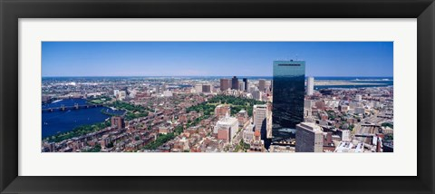Framed Boston Buildings Print