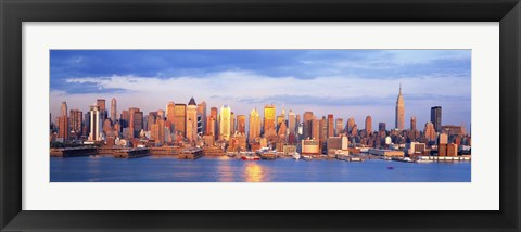 Framed Sunrise in New York, NY Print