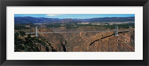 Framed Royal Gorge Bridge, Arkansas River, CO Print