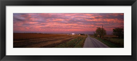 Framed Road in Illinois Print