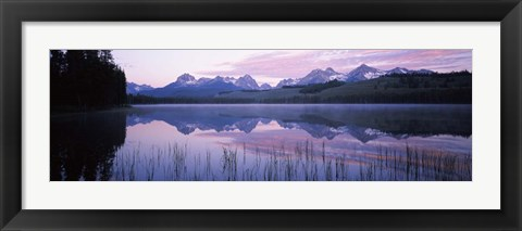 Framed Little Redfish Lake, Sawtooth National Recreation Area, Custer County, Idaho Print