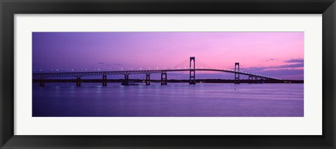 Framed Newport Bridge, Newport, RI Print