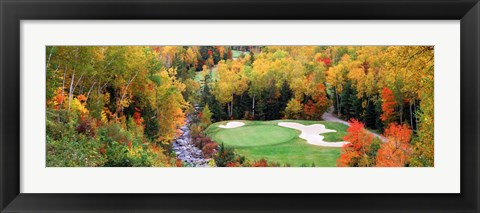 Framed New England Golf Course Print