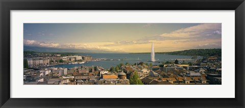 Framed Lake Geneva, Switzerland Print