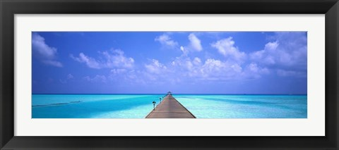 Framed Holiday Island, Maldives Print