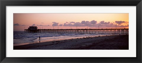 Framed Newport Pier, Orange County, California Print