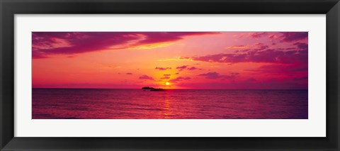 Framed Sunset over Cat Island, Bahamas Print