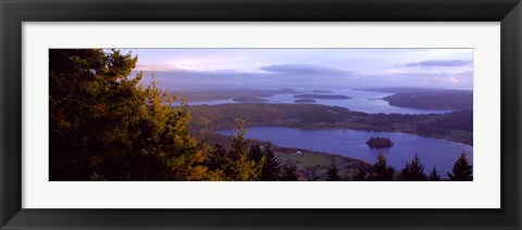 Framed Campbell Lake and Whidbey Island, WA Print