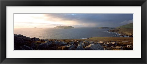 Framed Blasket Islands Co, Kerry, Ireland Print