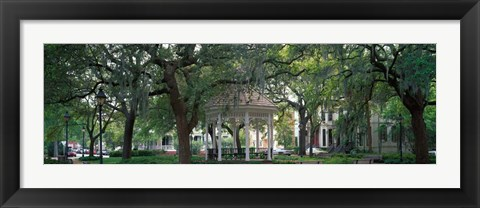 Framed Whitefield Square Historic District, Savannah, GA Print