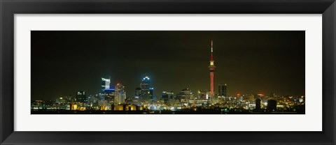 Framed Sky Tower, Auckland, New Zealand Print