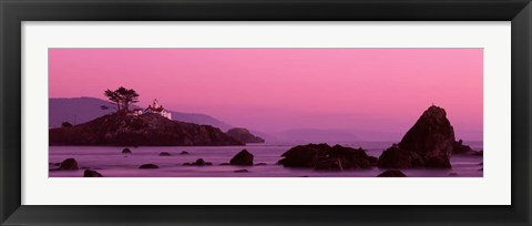 Framed Crescent City Lighthouse, California Print