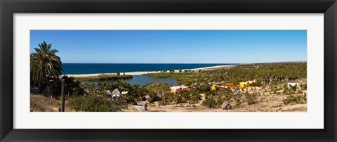 Framed Lagoon at Playa La Poza, Todos Santos, Baja California Sur, Mexico Print