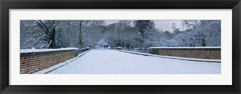 Framed Hampstead Heath in Winter, London, England Print