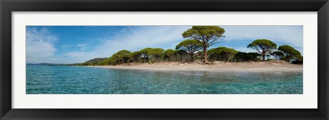 Framed Palombaggia Beach, Corsica, France Print