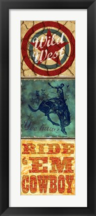 Framed Rodeo Panel Two Print