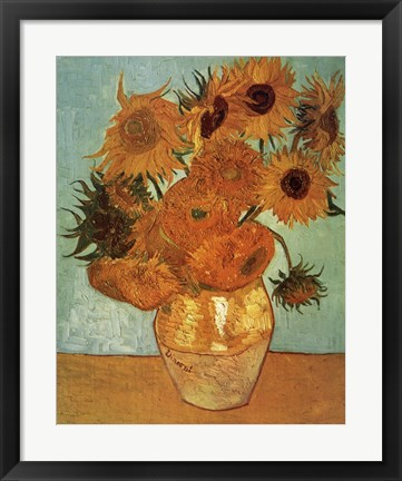 Framed Sunflowers No.2 Print