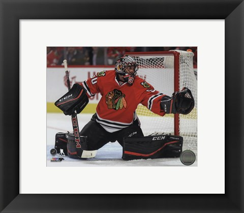 Framed Corey Crawford 2015-16 Action Print