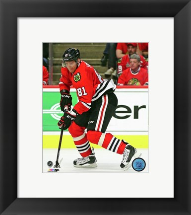 Framed Marian Hossa 2015-16 Action Print