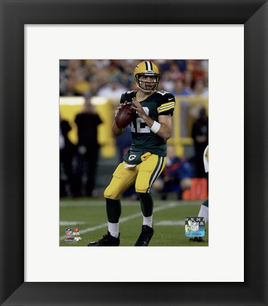 Framed Aaron Rodgers 2015 Action Print