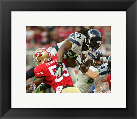 Framed Marshawn Lynch 2015 Action Print