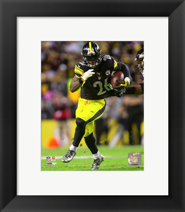 Framed Le'Veon Bell 2015 Action Print