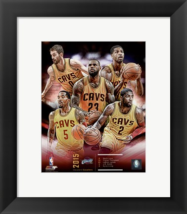 Framed Cleveland Cavaliers 2015-16 Team Composite Print
