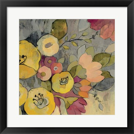 Framed Yellow Floral Duo I Print