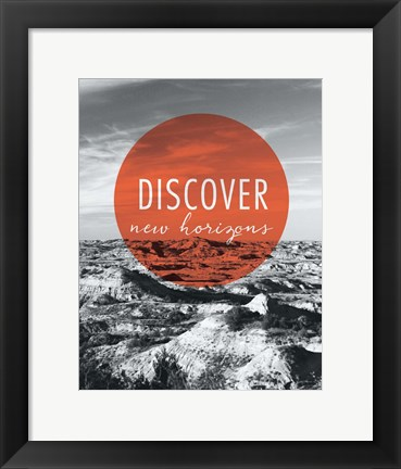 Framed Discover New Horizons Print