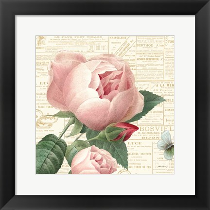 Framed Roses in Paris V Print