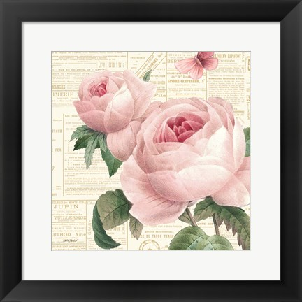 Framed Roses in Paris VI Print