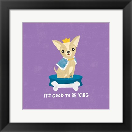 Framed Good Dogs Chihuahua Bright Print
