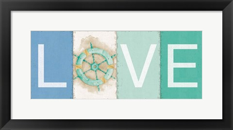Framed New Horizons Love Print
