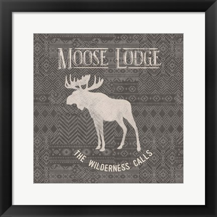 Framed Soft Lodge IV Dark Print