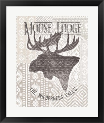 Framed Soft Lodge V Print