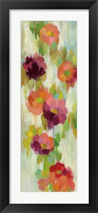 Framed Coral and Emerald Garden II Print