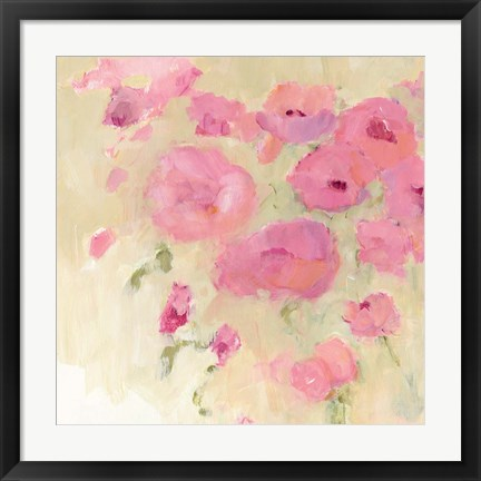 Framed Floral Watercolor Crop Print