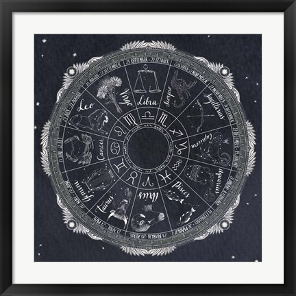 Framed Night Sky Zodiac Print