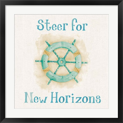 Framed New Horizons I Words Print