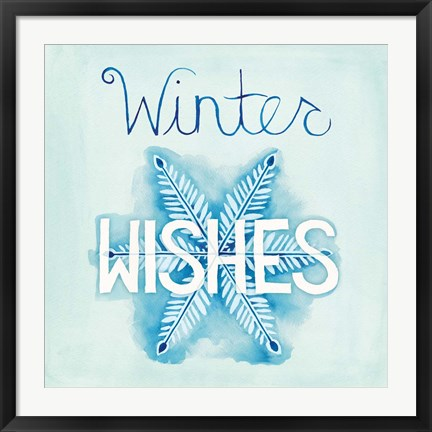 Framed Snowflake Sayings II Print