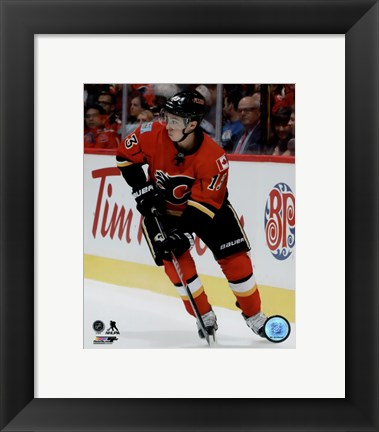 Framed Johnny Gaudreau 2015-16 Action Print