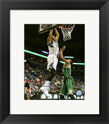 Framed Karl-Anthony Towns 2015-16 Action Print